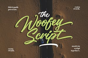 The Woofey Script  Typeface