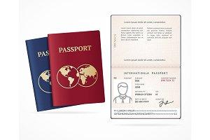 International Passport Blank Set.