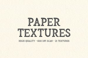 21 High Quality Paper Textures