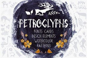 Big kit for design. PETROGLYPHS.