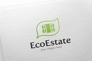 Real Estate - Eco House Logo