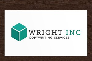 Wright Inc Copywriter Logo - PSD