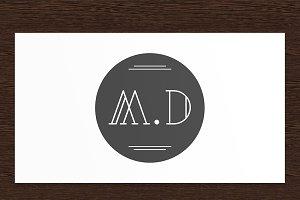 M.D Minimalist Logo - PSD