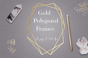 Gold Geometric Frames