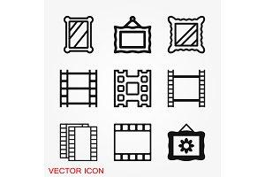 Frame icon vector, frame icon for
