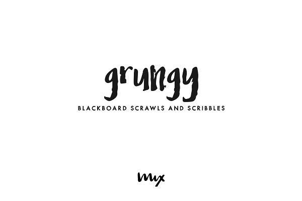 Grungy — Blackboard Scribbles