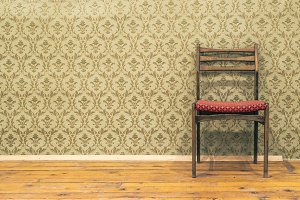Victorian style vintage pattern wall