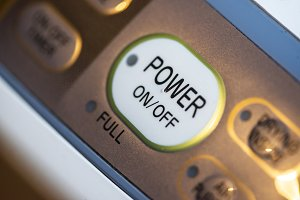 Power on button on electrical device