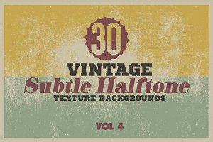 30 Vintage Halftone Overlay/BGs