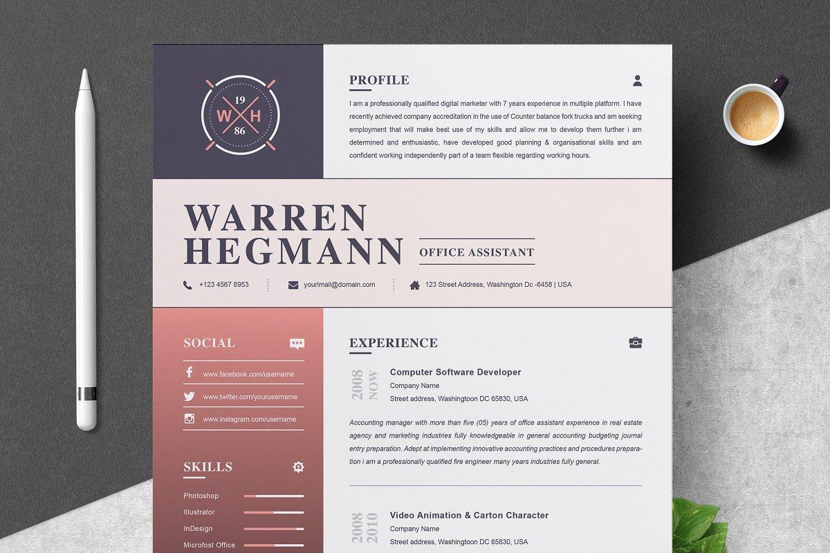 Resume Template   Modern & Creative ~ Resume Templates ...