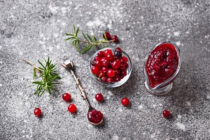 Cranberry sauce with rosemary and