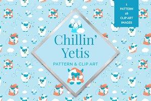 Chillin' Yeti Surface Pattern
