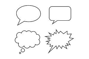 speech bubble simple vector