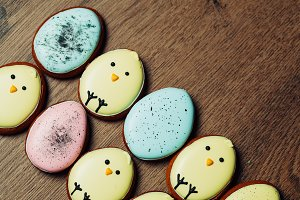 Easter homemade gingerbread cookie o