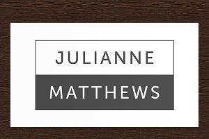 Julianne Matthews Personal Logo PSD