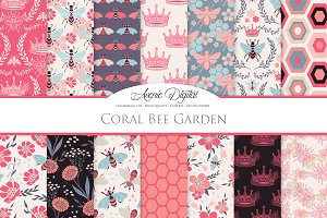 Coral Bee Vector Patterns and Papers