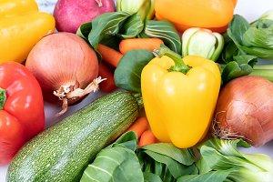 Filled frame view of organic veggies