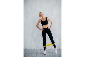 girl exercising pilates fitness