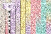 Rainbow pastel seamless glitter
