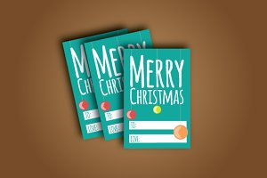 Vector Christmas Gift Tag