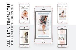 Entire shop set- Instagram templates