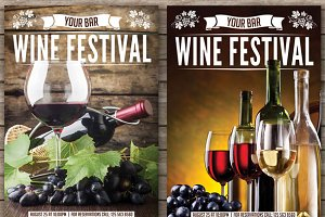 Wine Festival Two Flyers