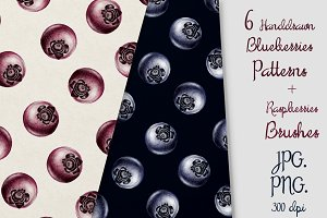 6 Blueberries Patterns & Brash