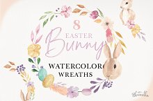 Easter Bunny Watercolor Egg Bunny