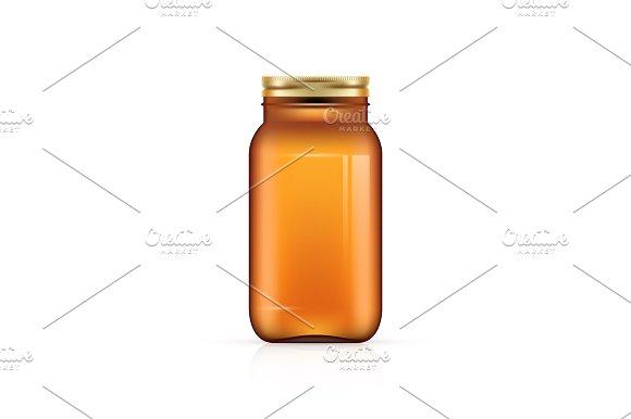 Blank Bottle on white background