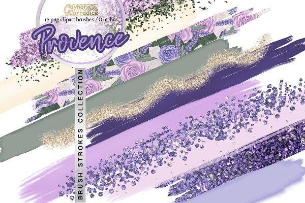 Provence - brushes clipart