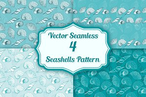 Seamless Seashells Patterns
