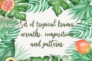 Tropical watercolor  bright mood