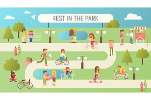 Rest in Park Banner