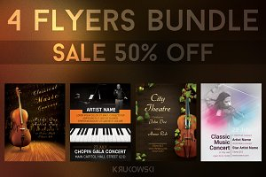 Classical Music Event Flyers Bundle