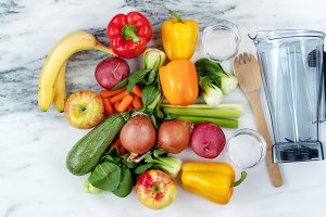 Fruits and vegetables for diet drink