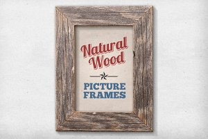 11 Isolated Natural Wood Frames