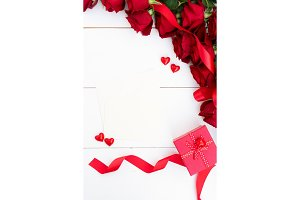 Red roses and Valentines day present