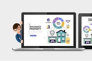 Flat property insurance service set