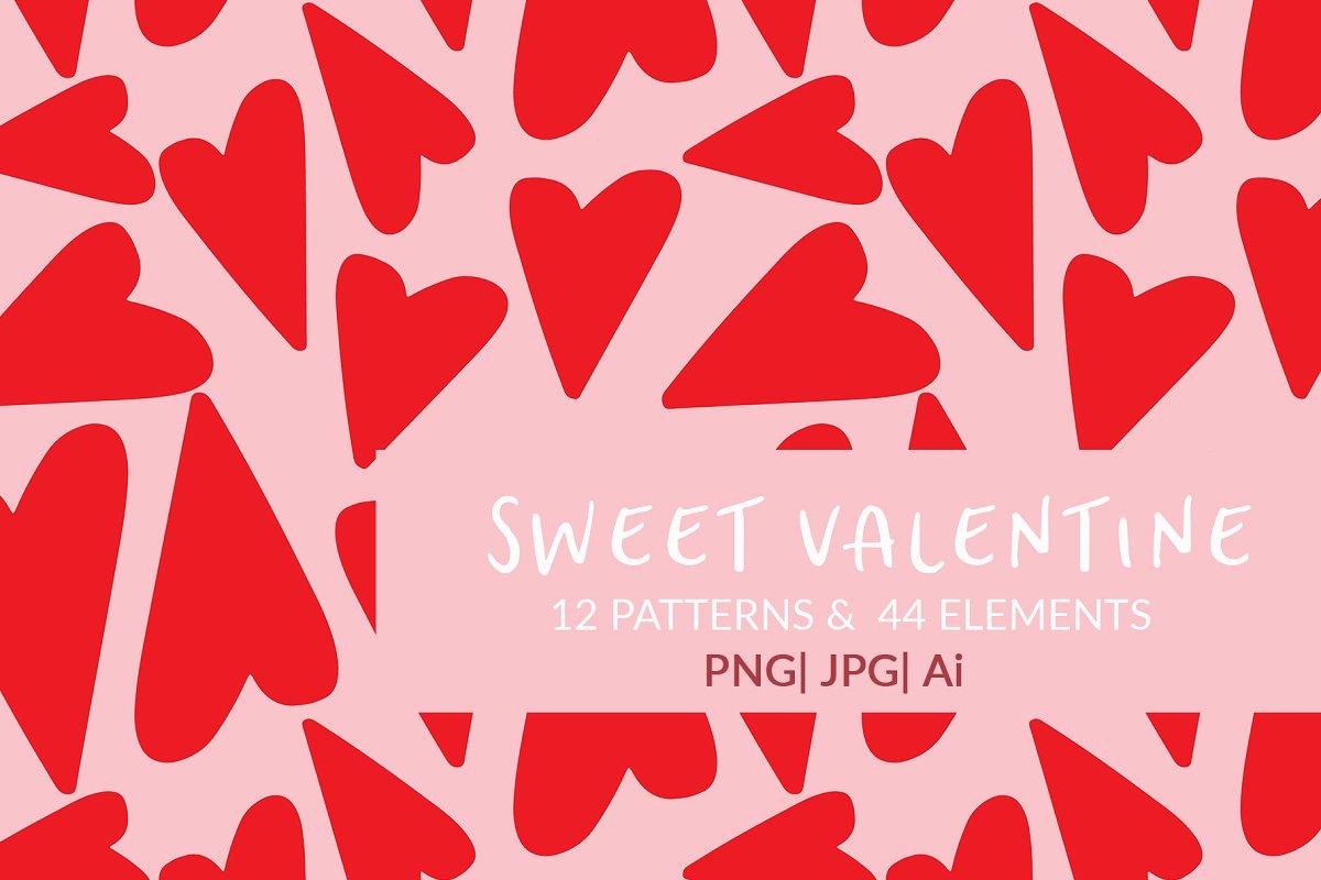 Sweet Valentine Patterns & Elements