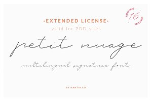 Petit Nuage Font | Extended License