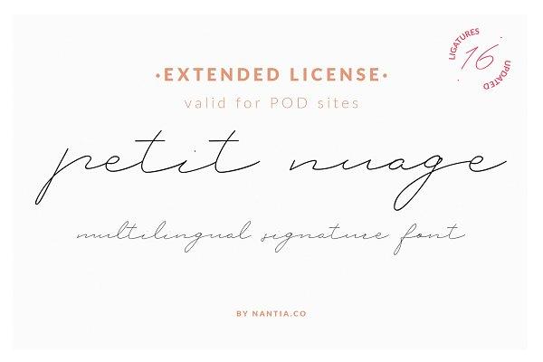 Script Fonts: nantia - Petit Nuage Font | Extended License