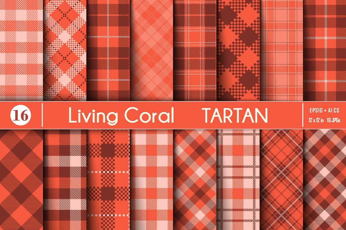 Living Coral  Tartan
