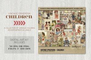 Vintage Ephemera - Children