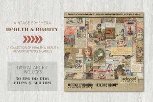 Vintage Ephemera - Health and Beauty
