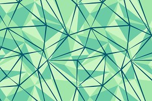 Green seamless pattern. Triangles.
