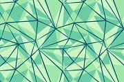 Green seamless pattern. Triangles.