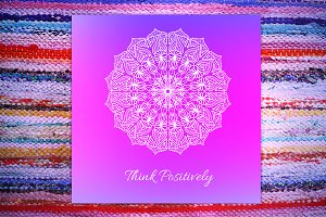 """""""Think Positively"""" card"""