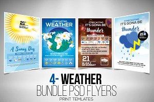 Weather Report 4 Flyers Bundle