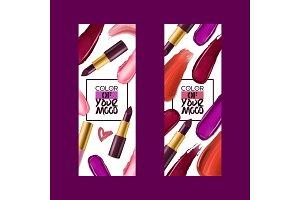 Lipstick pattern vector beautiful