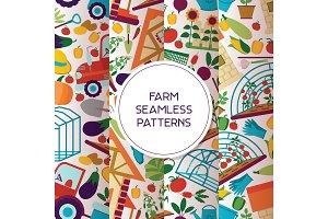 Farm seamless pattern vector farming